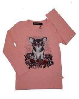 T-shirt - Minymo Rose Dog