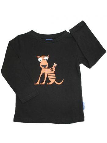 T-shirt - EggKids LS Sven sort