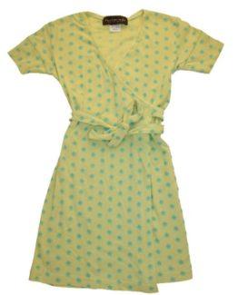 Slå-om kjole - Rosemunde Lime
