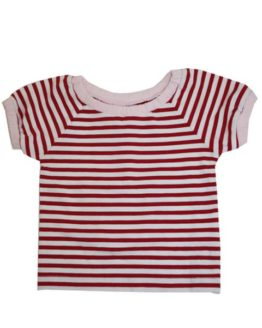 T-shirt - Wheat Red stripes
